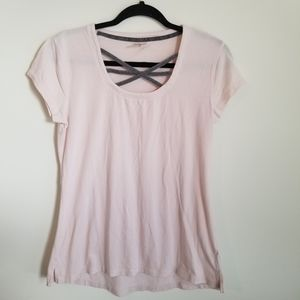 Calia by Carrie Underwood pink and gray tee